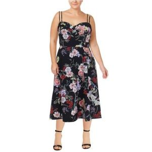 NWT City Chic Strappy Floral Print Dress
